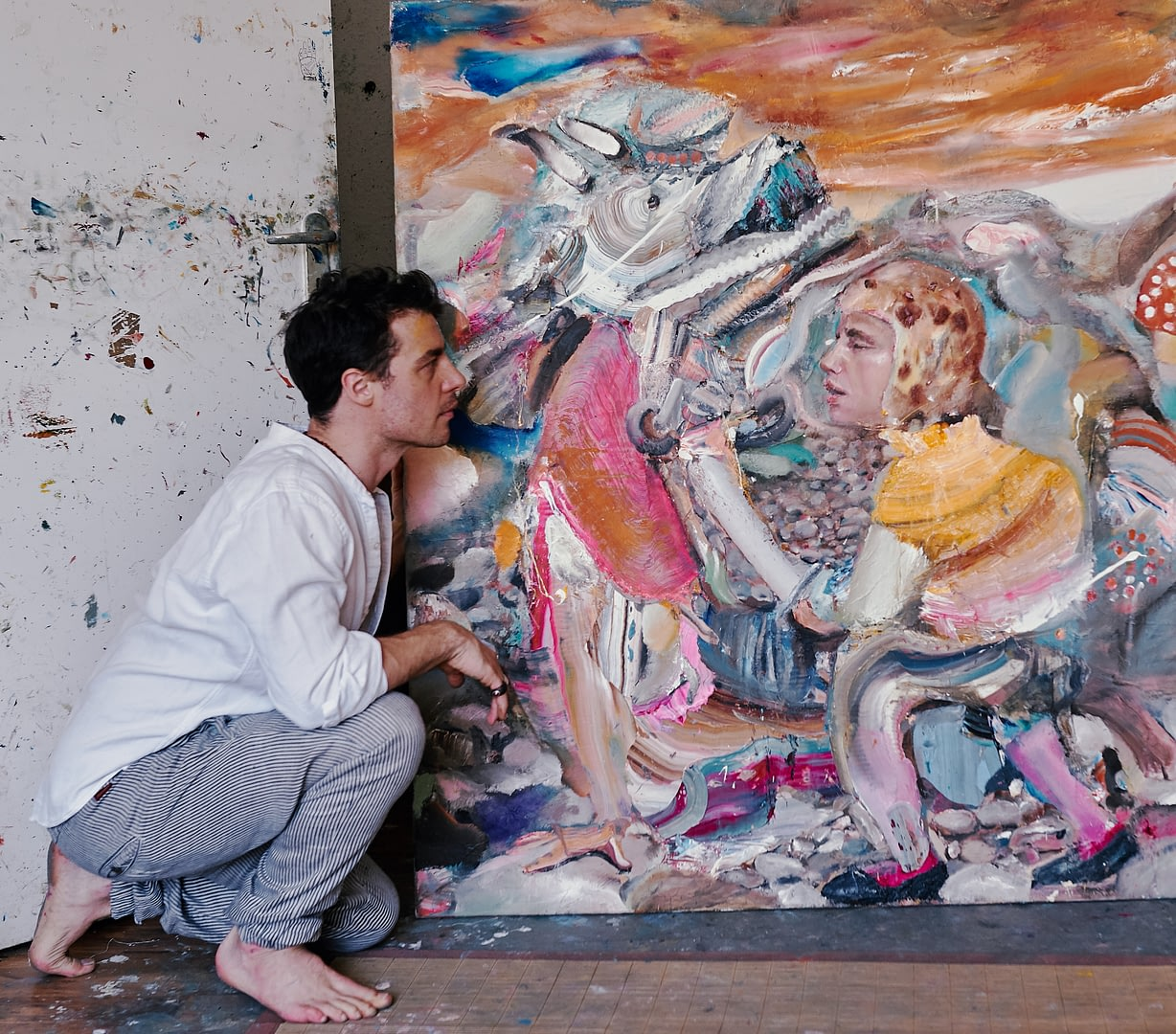 Artist Portrait of the Painter Stefano Bosis for 10011mag 6