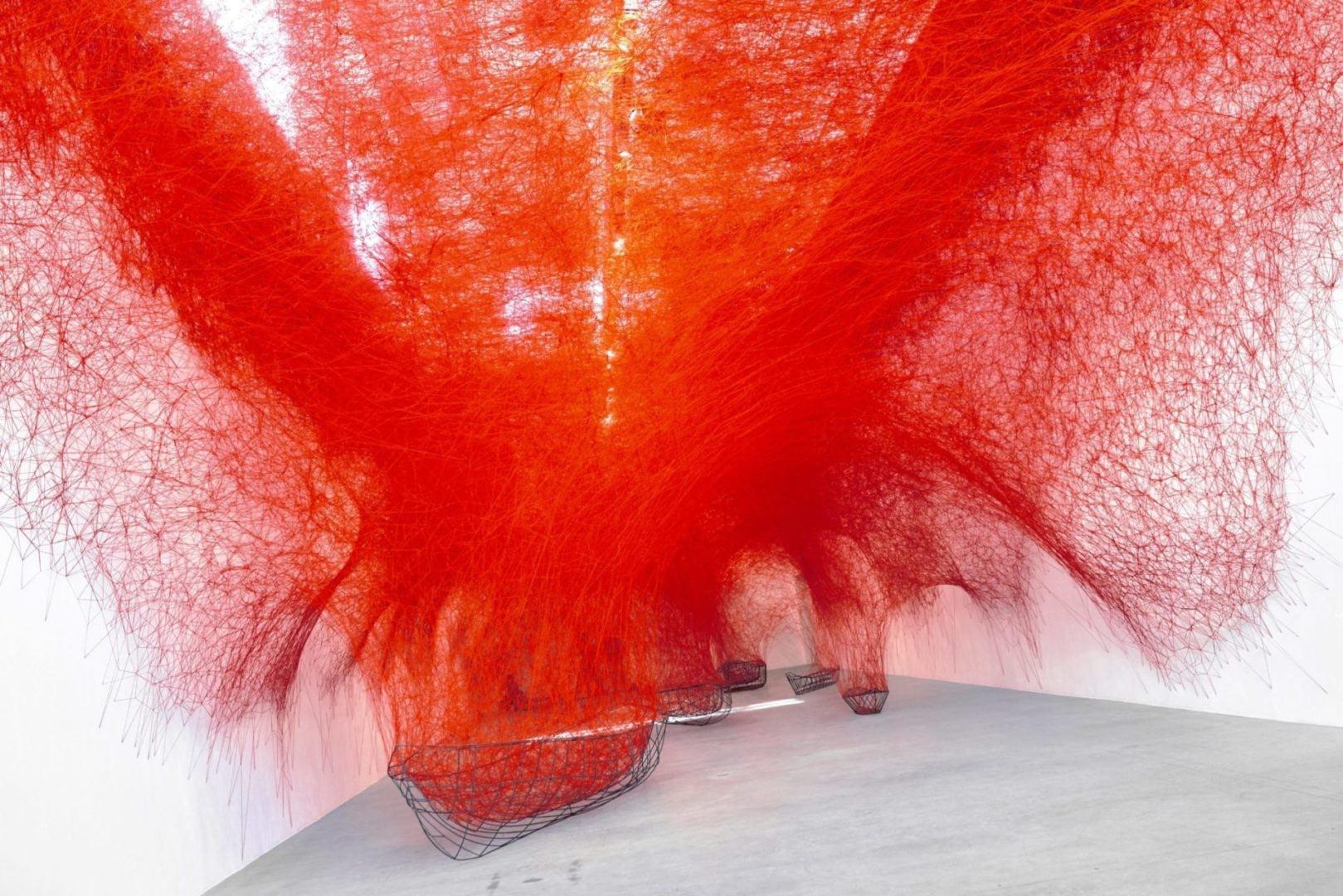 Chiharu Shiota at BlainSouthern für ArtBerlin 0108 e1536441780247