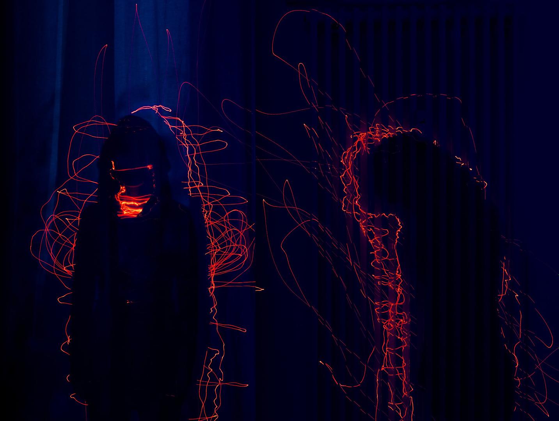 konzeptionelle Fotografie Laser Ghost0001