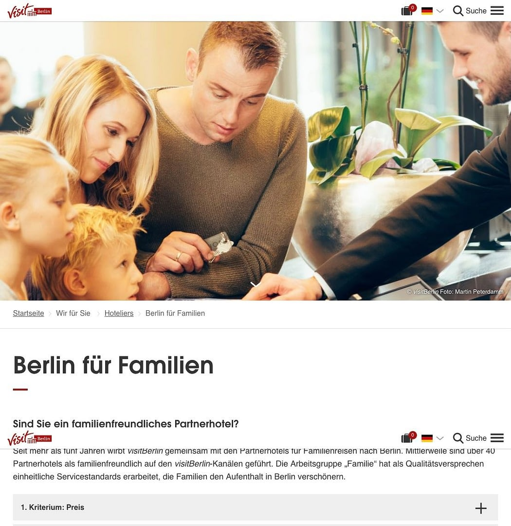 werbefotografie Imagekampagnen Motive in Anwendung auf der visitBerlin Seite