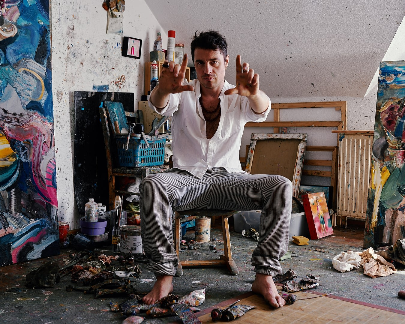 Artist Portrait of the Painter Stefano Bosis for 10011mag 2