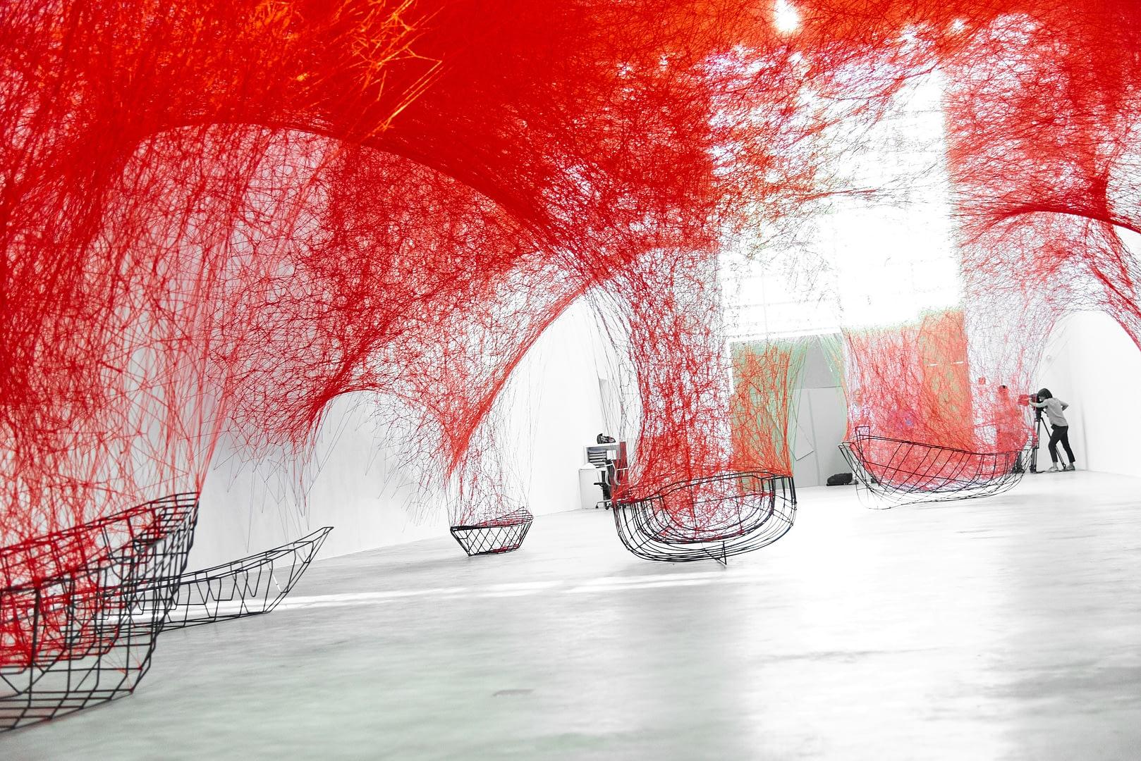 Chiharu Shiota at BlainSouthern für ArtBerlin 0072