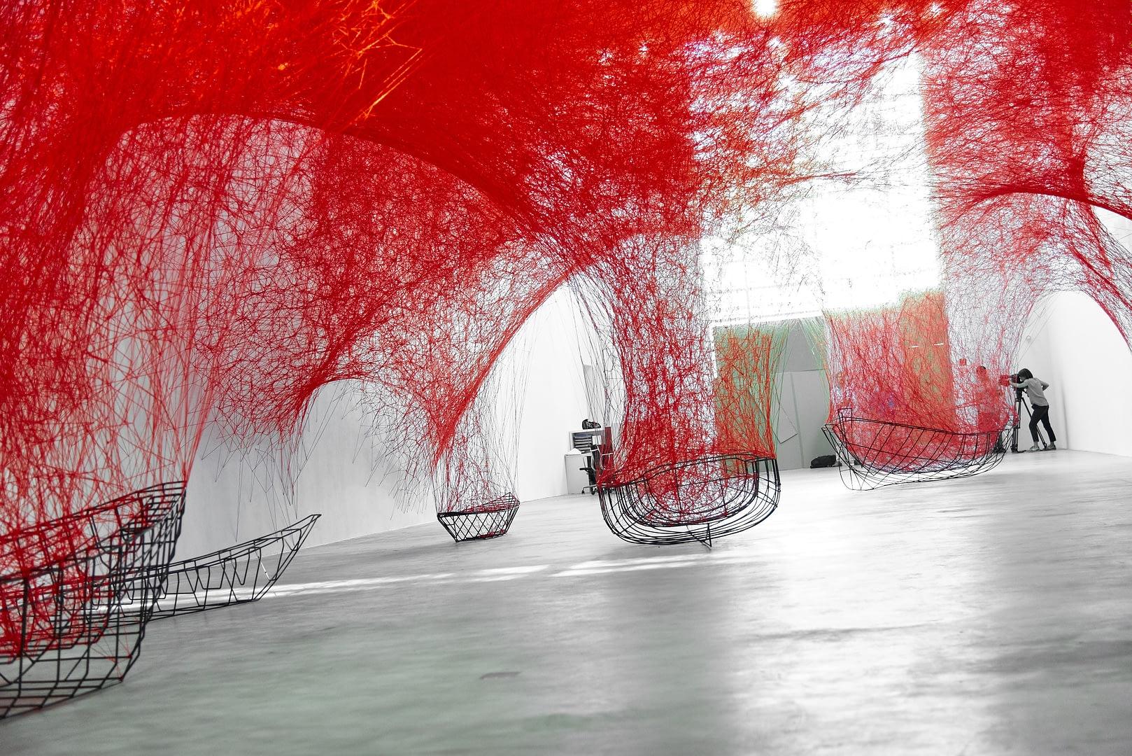 Chiharu Shiota at BlainSouthern für ArtBerlin 0073
