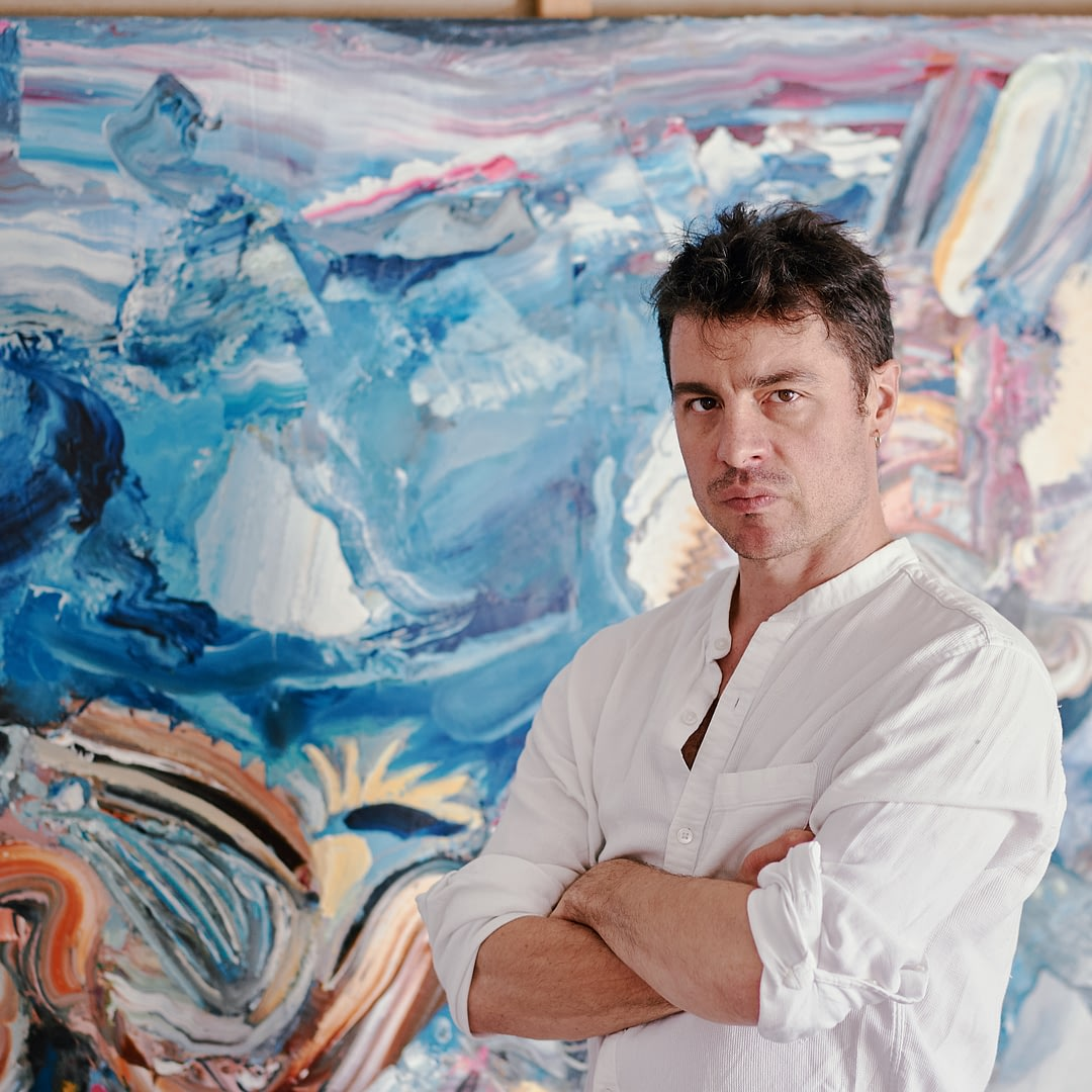 Artist Portrait of the Painter Stefano Bosis for 10011mag 7