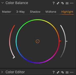 Licht Farbe für den eigenen Preset
