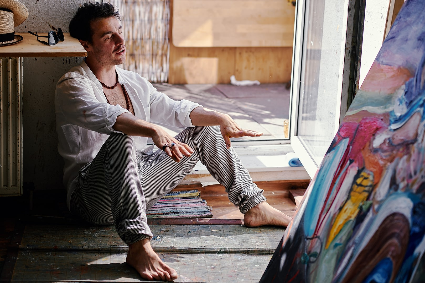 Artist Portrait of the Painter Stefano Bosis for 10011mag 5