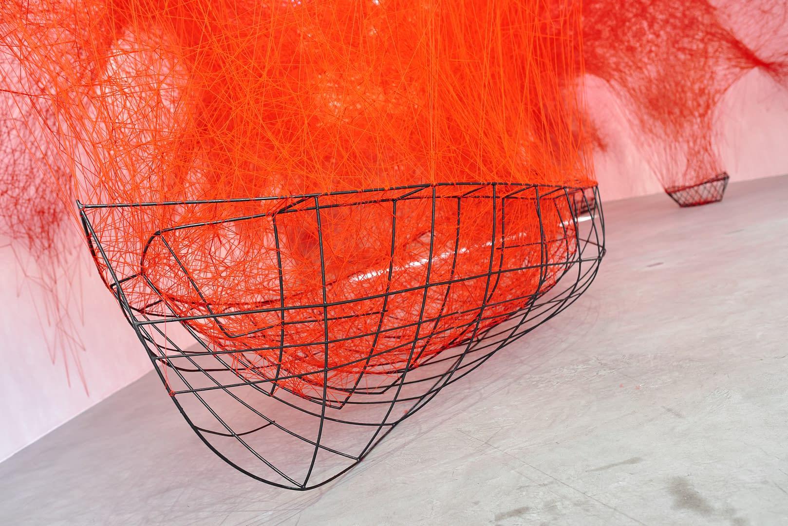 Chiharu Shiota at BlainSouthern für ArtBerlin 0100